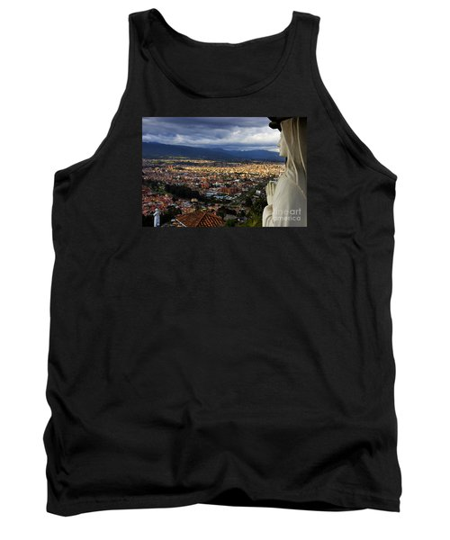 Vigil Over Cuenca From Turi Ecuador Tank Top by Al Bourassa