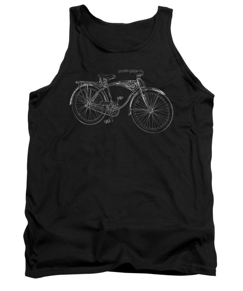 Vintage Bicycle Tee Tank Top by Edward Fielding