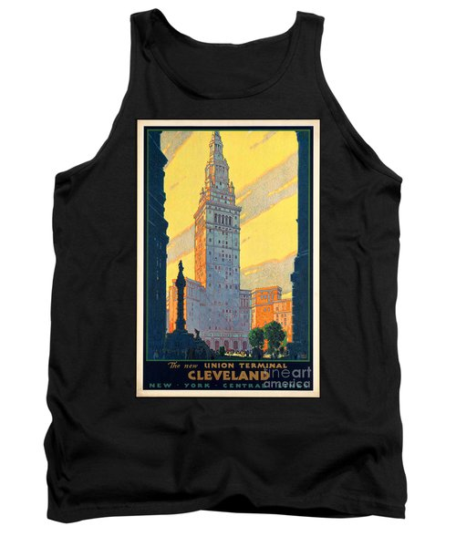 Vintage Cleveland Travel Poster Tank Top