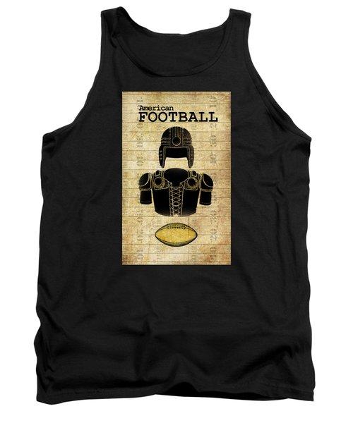 Vintage Football Print Tank Top by Greg Sharpe
