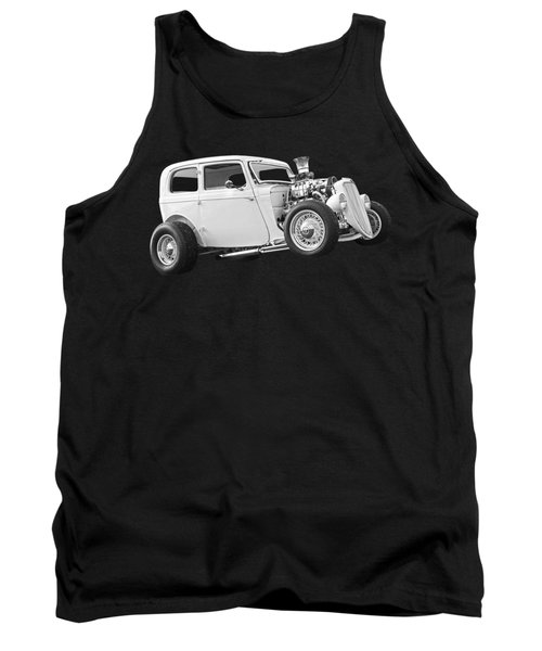 Vintage Ford Hot Rod In Black And White Tank Top