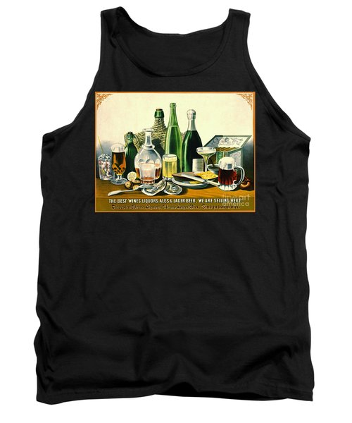 Vintage Liquor Ad 1871 Tank Top by Padre Art