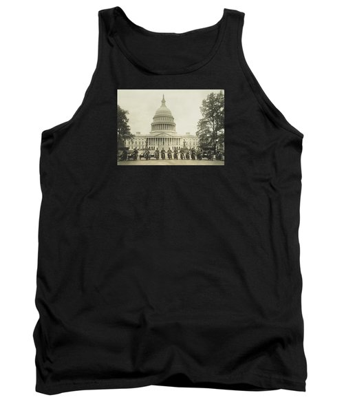 Vintage Motorcycle Police - Washington Dc  Tank Top by War Is Hell Store