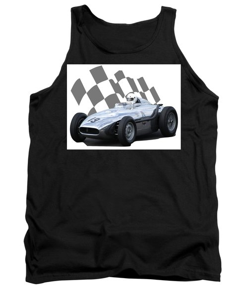 Vintage Racing Car And Flag 7 Tank Top by John Colley