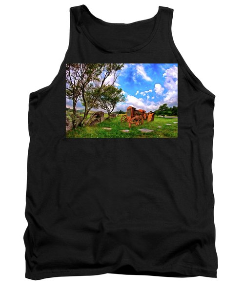 Vintage Tractor In The Blue Ridge Ap Tank Top