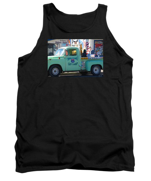Vintage Truck With Elvis On Historic Route 66 Tank Top