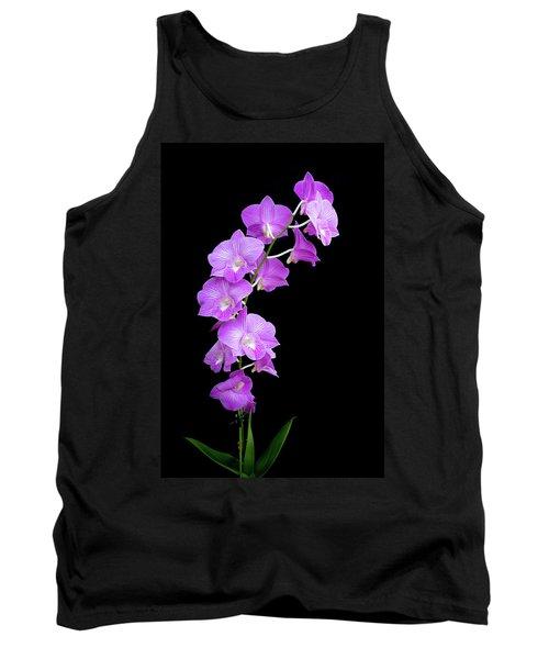 Vivid Purple Orchids Tank Top