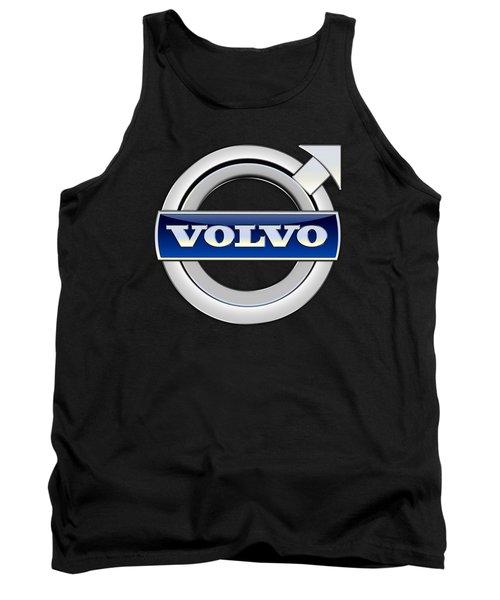 Volvo - 3d Badge On Black Tank Top by Serge Averbukh