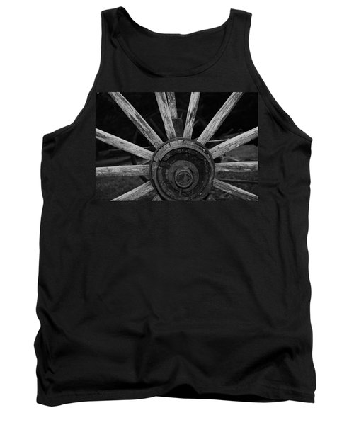 Tank Top featuring the photograph Wagon Wheel by Eric Liller