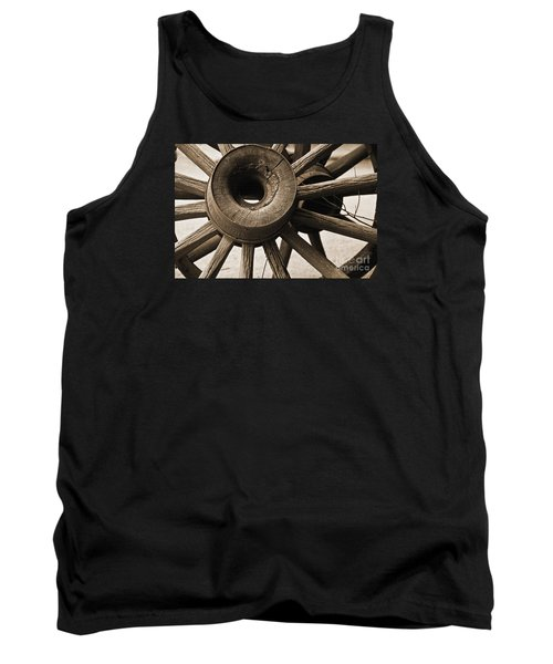 Tank Top featuring the photograph Wagon Wheel Hub by Kirt Tisdale