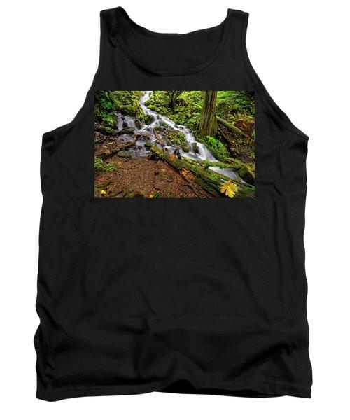 Tank Top featuring the photograph Wahkeena Falls by Jonathan Davison