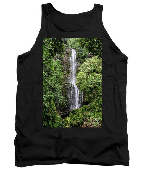 Wailua Falls On The Road To Hana, Maui, Hawaii Tank Top