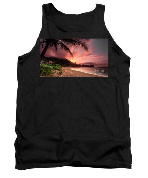 Wainiha Kauai Hawaii Bali Hai Sunset Tank Top