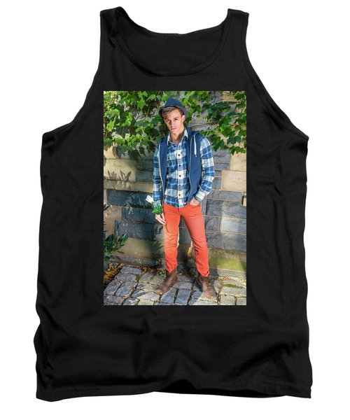Young Man Waiting For You Tank Top