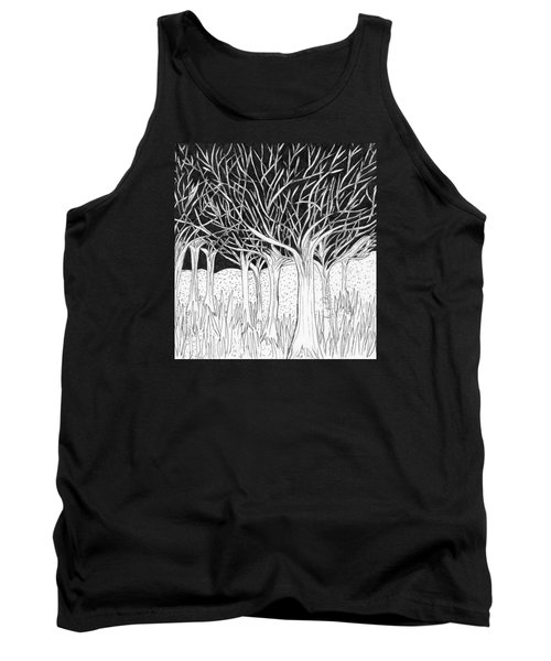 Walking Out Of The Woods Tank Top by Lou Belcher