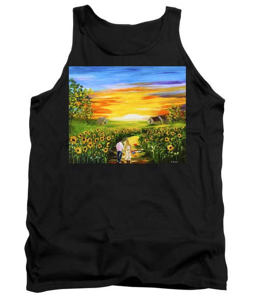 Walking Through The Sunflowers Tank Top