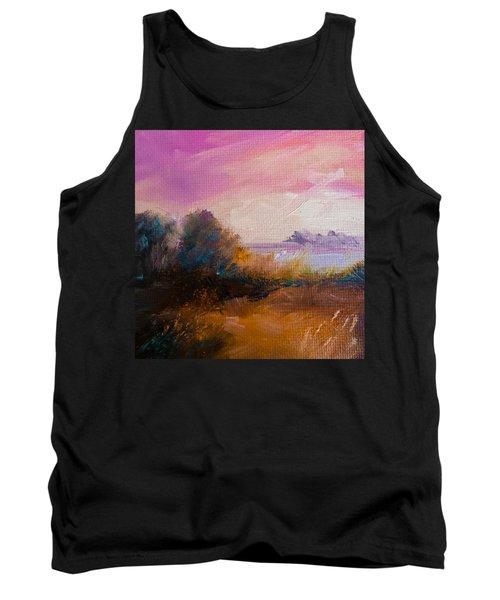 Warm Colorful Landscape Tank Top