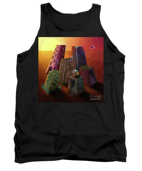Warm Silence Tank Top by Rosa Cobos