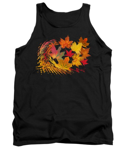 Warm Winds - Autumn Leaves Abstract Tank Top