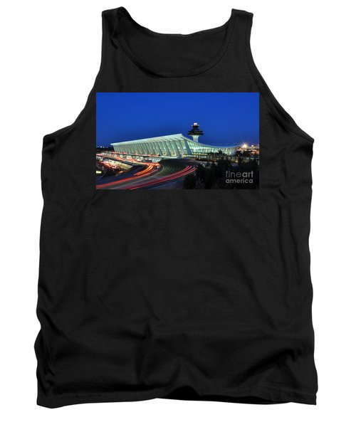 Washington Dulles International Airport At Dusk Tank Top by Paul Fearn