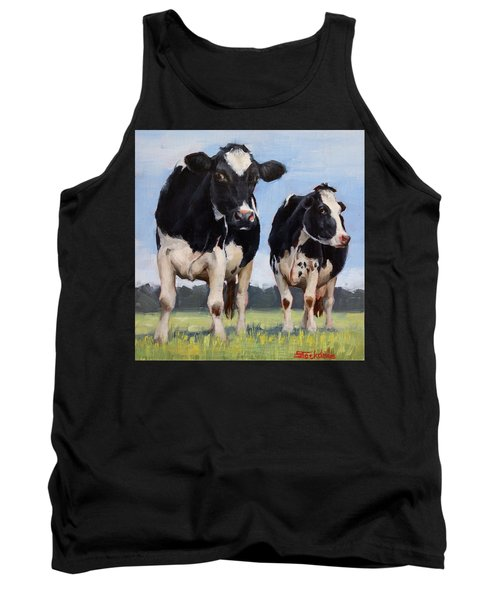 Watchful Cows Mini Painting  Tank Top