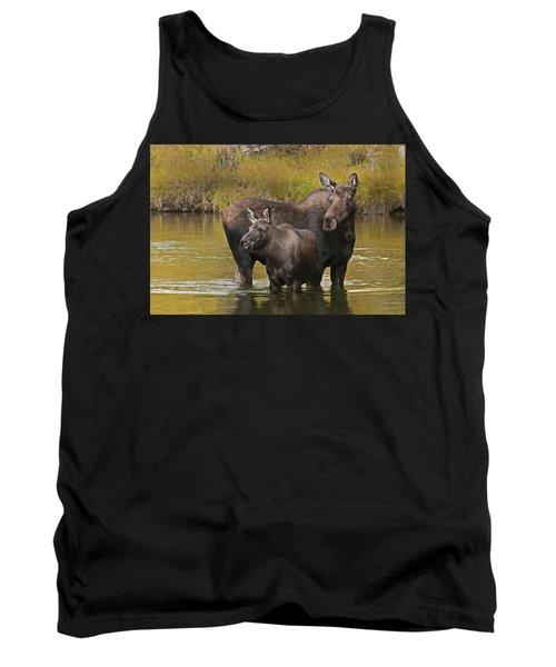Watchful Moose Tank Top