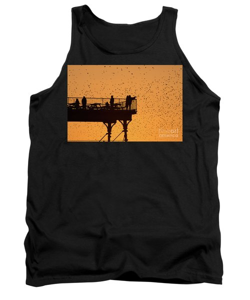 Watching The Sunset And Starlings In Aberystwyth Wales Tank Top