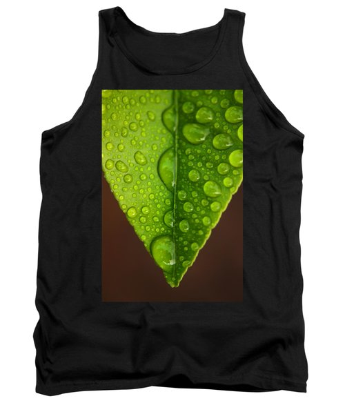 Water Droplets On Lemon Leaf Tank Top by Ralph A  Ledergerber-Photography