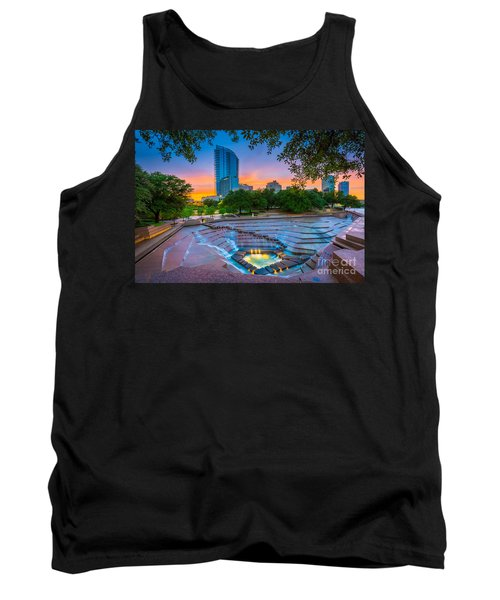 Water Gardens Sunset Tank Top
