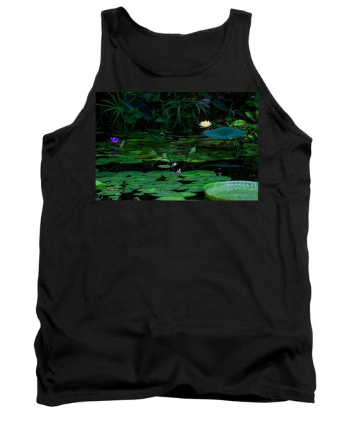Water Lilies In The Pond Tank Top