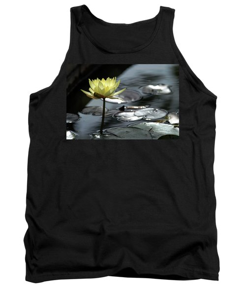 Water Lily And Silver Leaves Tank Top