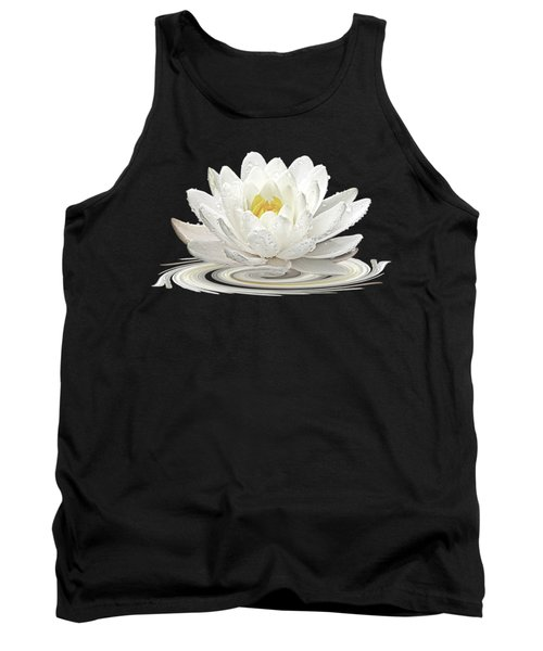 Water Lily Whirl Tank Top by Gill Billington
