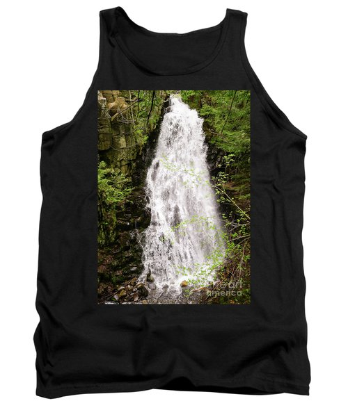 Water Roaring Down Cascade Falls, Farmington, Maine  -30377 Tank Top