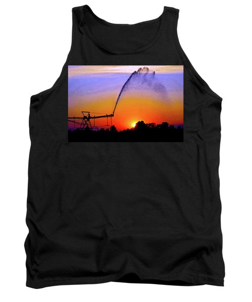 Watercolor Irrigation Sunset 3243 W_2 Tank Top