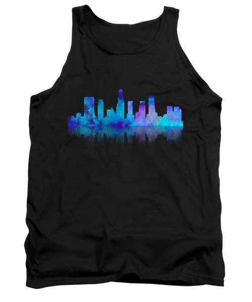 Watercolor Los Angeles Skylines On An Old Paper Tank Top