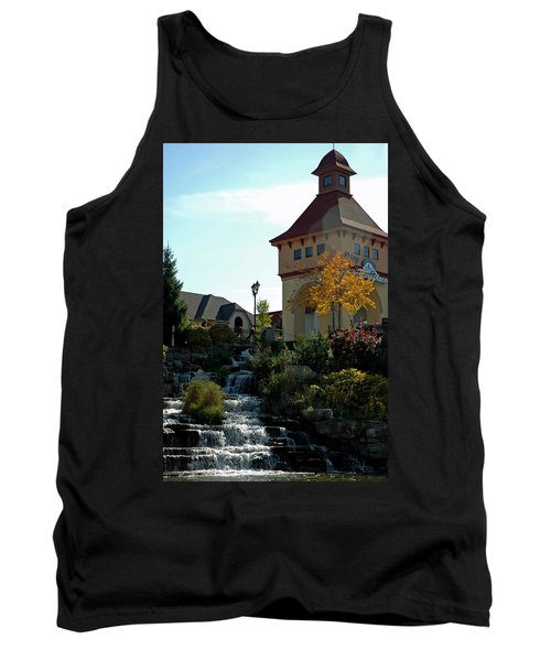 Tank Top featuring the photograph Waterfall Frankenmuth Mich by LeeAnn McLaneGoetz McLaneGoetzStudioLLCcom