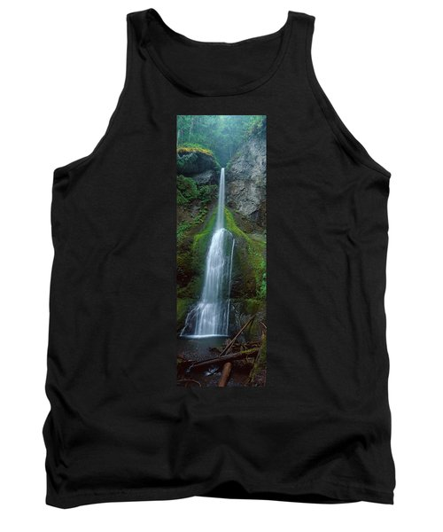 Waterfall In Olympic National Rainforest Tank Top by Panoramic Images