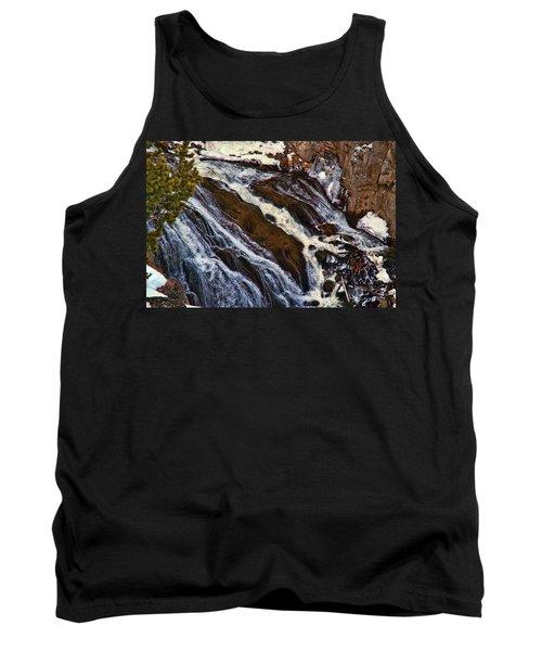Waterfall In Yellowstone Tank Top