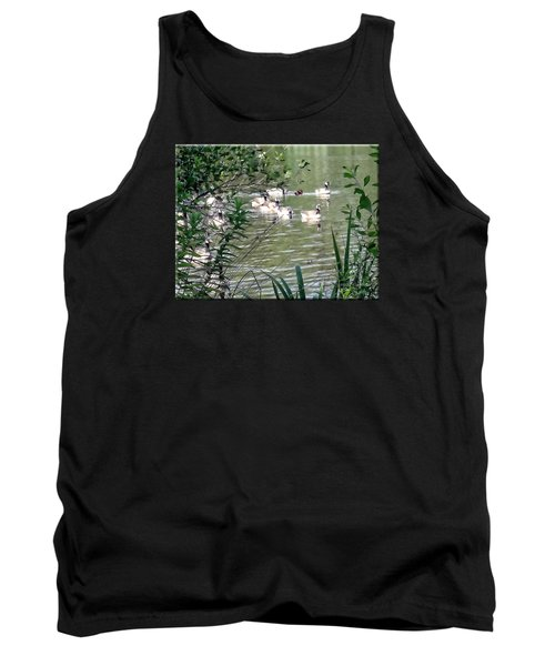 Waterfowl At The Park Tank Top by Mikki Cucuzzo