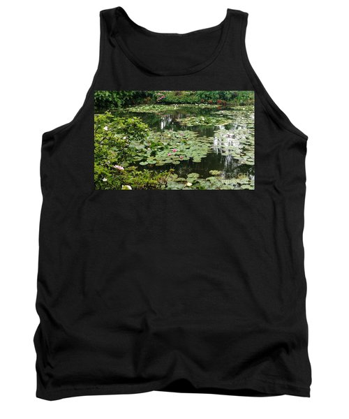 Tank Top featuring the photograph Waterlilies At Monet's Gardens Giverny by Therese Alcorn