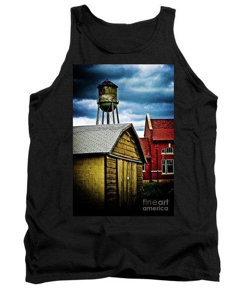 Waurika Old Buildings Tank Top by Toni Hopper