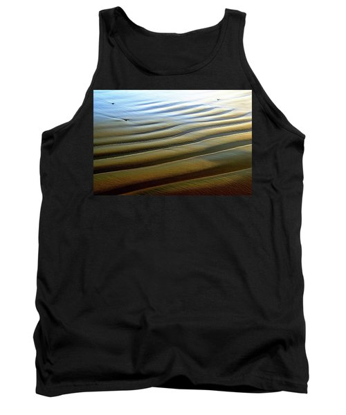 Wave Patterns At Drake's Beach, Point Reyes National Seashore Tank Top