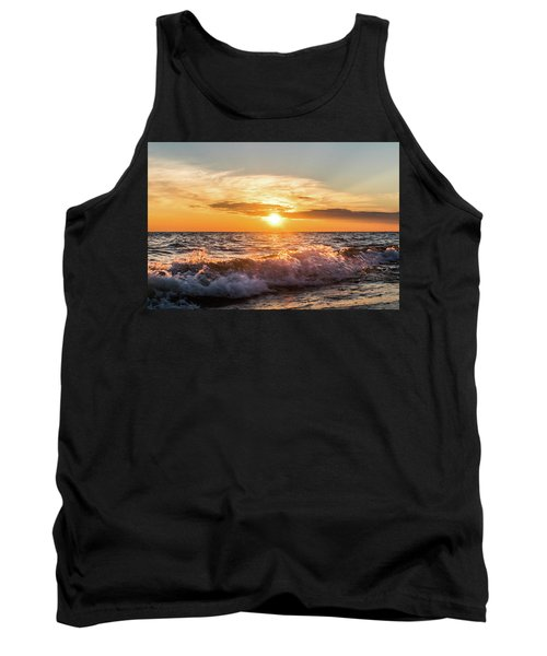 Waves Crashing With Suset Tank Top