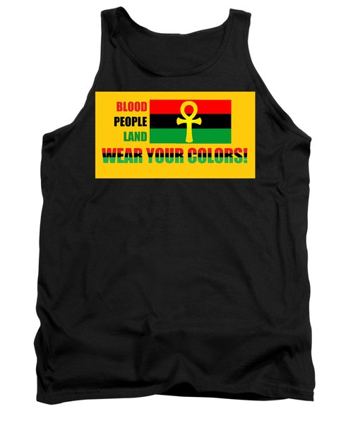Wear Red Black And Green Tank Top