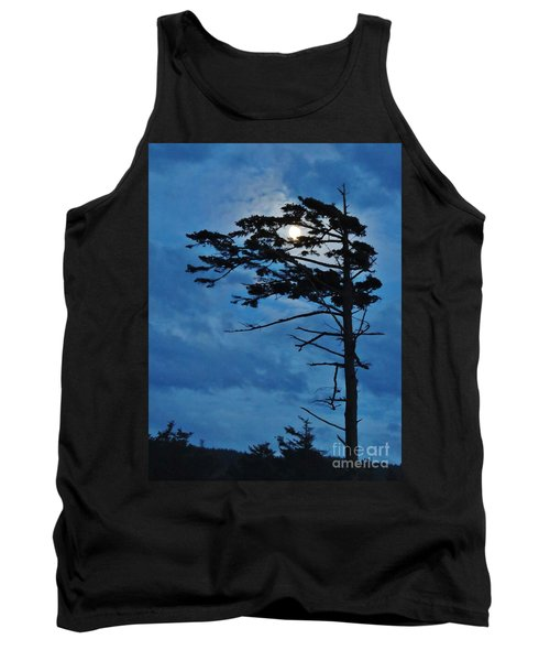 Weathered Moon Tree Tank Top