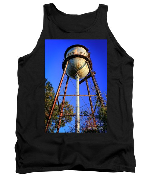Tank Top featuring the photograph Weighty Water Cotton Mill  Water Tower Art by Reid Callaway