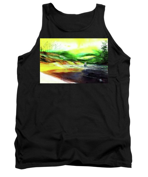 Tank Top featuring the painting Welcome Back by Anil Nene