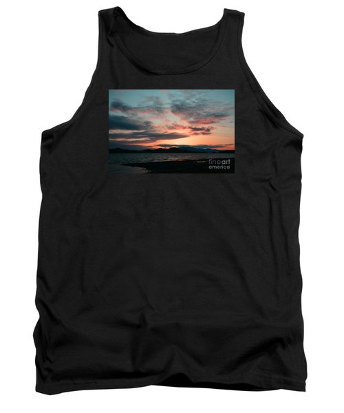 Welcome Beach Sunset 2015 Tank Top by Elaine Hunter