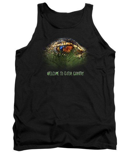 Welcome To Gator Country Design Tank Top
