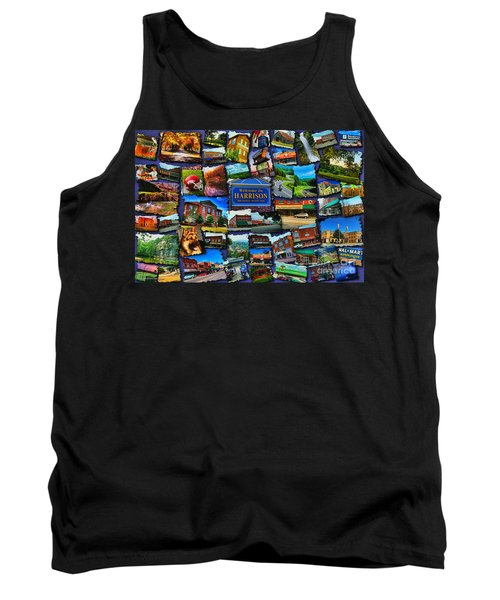 Tank Top featuring the digital art Welcome To Harrison Arkansas by Kathy Tarochione